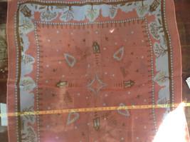 Coral White House Scene Design Silk Blend Square Fashion Scarf Made in China image 3
