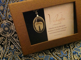 Courage Spanish Valentia angel wings pendant w saying in  Espanol w gift box image 2