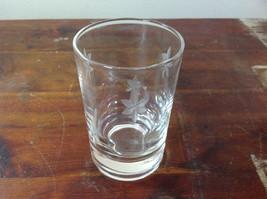 Crystal Juice Glasses Set of Eight Handmade Copper Wheel Engraving image 4