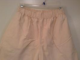 Cream 100 Percent Cotton Chicos Wear Anywhere Shorts One Size Elastic Waist image 3