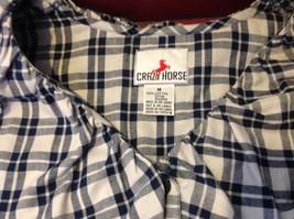 Crazy Horse Women's blue blouse size medium image 6