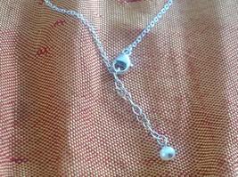 Crescent gunmetal Black oxidized silver Moon Necklace 3 tiny CZs Zina Kao USA image 8