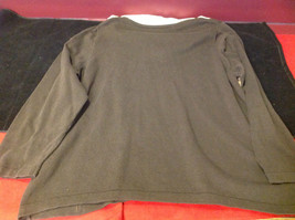 Croft & Barrow Ladies Long Sleeve Brown Sweater with Patterns Size 2X image 7