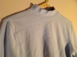 Croft and Barrow Light Blue Long Sleeve Turtleneck Shirt Size Petite Large image 2