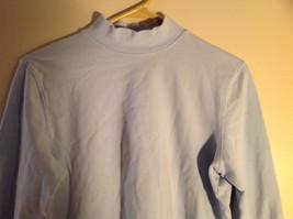 Croft and Barrow Light Blue Long Sleeve Turtleneck Shirt Size Petite Large image 5