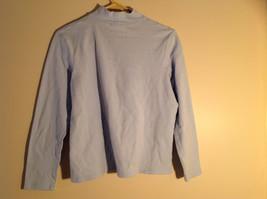 Croft and Barrow Light Blue Long Sleeve Turtleneck Shirt Size Petite Large image 6