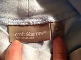 Croft and Barrow Light Blue Long Sleeve Turtleneck Shirt Size Petite Large image 7