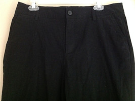 Croft & Barrow Stretch Black Suede Feeling Work Dress Pants Size 16 image 3