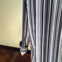 Croft and Barrow Black and White Striped Blouse Button Down with Collar Size M image 10