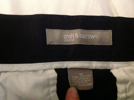 Croft & Barrow Stretch Black Suede Feeling Work Dress Pants Size 16 image 7