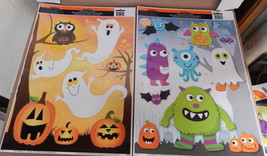 "Halloween Window Clings 12"" x 15"" 2ea Impact Innovations USA Pumpkins Ow... - $6.92"