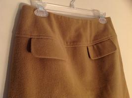 Cute Tan Wool Pencil Skirt from Banana Republic Zipper Closure at Back Size 8 image 2