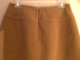 Cute Tan Wool Pencil Skirt from Banana Republic Zipper Closure at Back Size 8 image 4