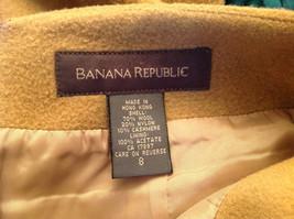 Cute Tan Wool Pencil Skirt from Banana Republic Zipper Closure at Back Size 8 image 6