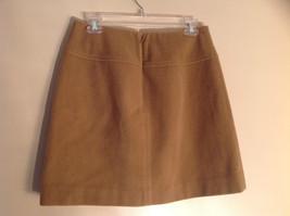 Cute Tan Wool Pencil Skirt from Banana Republic Zipper Closure at Back Size 8 image 5