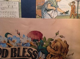 Currier and Ives Lithograph colorized God Bless our Home circa late 1800s image 10