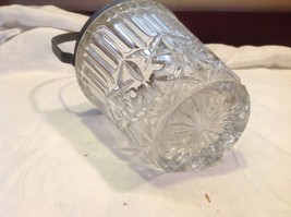 Cut crystal vintage mini ice bucket w silverplate handle from estate image 5