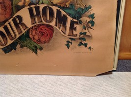 Currier and Ives Lithograph colorized God Bless our Home circa late 1800s image 9