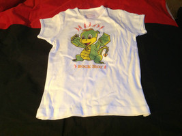 Cute Brands White Short Sleeve Shirt Rock Star Dragon on Front Size Small image 2