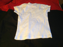 Cute Brands Girls White Short Sleeve Shirt Turtle and Dreamer on Front Size M image 7