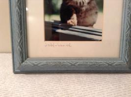 Cute Framed Photo of Kitten in Light Blue Wood Frame by Linda Hubbard image 3