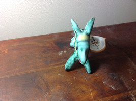 Cute Handmade Hand Painted Green Donkey with Little Tray on Side image 3
