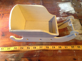 Cute Handmade Miniature Wooden Sleigh Decoration 10 Inches in Length image 6