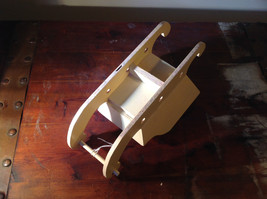 Cute Handmade Miniature Wooden Sleigh Decoration 10 Inches in Length image 4