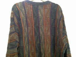 Croft and Barrow Size XL Brown Navy Dark Green Pattern Cotton Blend Sweater image 5