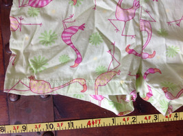 Cute Infant Green Pink Flamingo Elastic Waist Shorts Vitamins Size 6 to 9 Months image 3