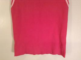 Cute Pink  Sleeveless Tank Top Ann Taylor Loft Size Medium image 3
