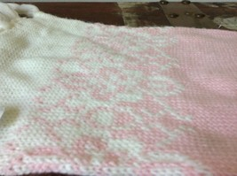 Cute Pink Scarf with White Ends Soft Double Layered 51 Inches by 7 Inches image 4