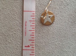 Cute Riveted Baby Disk Earrings with Star Silver on Gold Handmade Zina Kao image 7