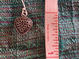 Cute Sweet Filigree Heart Sterling Silver Earrings Valentines Gift image 7