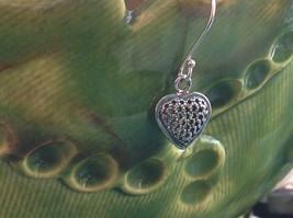 Cute Sweet Filigree Heart Sterling Silver Earrings Valentines Gift image 2
