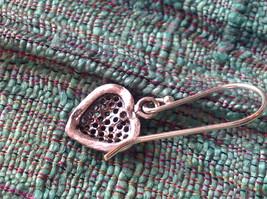 Cute Sweet Filigree Heart Sterling Silver Earrings Valentines Gift image 5