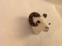 Dall sheep with long curly horns furry refrigerator magnet in 3D image 2