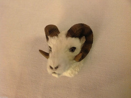 Dall sheep with long curly horns furry refrigerator magnet in 3D image 3