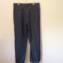 Dark Gray Dress Pants by Perry Ellis Portfolio Front Back Pockets Size 36 by 30 image 5