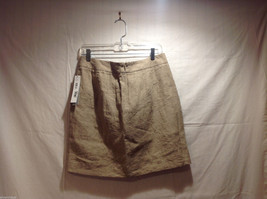 DKNY C Knee Length Summer Linen Sand Beige Skirt Front Pockets, Size 8 with Tags image 2
