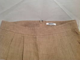 DKNY C Knee Length Summer Linen Sand Beige Skirt Front Pockets, Size 8 with Tags image 6