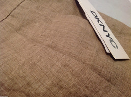 DKNY C Knee Length Summer Linen Sand Beige Skirt Front Pockets, Size 8 with Tags image 5