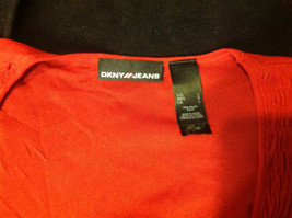 DKNY short sleeve red blouse image 4