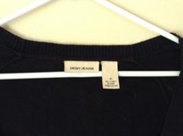 DKNY Jeans Black Size Medium Long Sleeve Button Up Shirt Pretty Design image 2