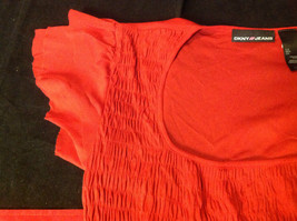DKNY short sleeve red blouse image 5