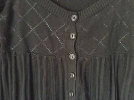 DKNY Jeans Black Size Medium Long Sleeve Button Up Shirt Pretty Design image 3