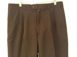Dark Green 100 Percent Wool Pleated Front Dress Pants Louis Raphael Size 34 image 2