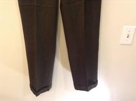 Dark Green 100 Percent Wool Pleated Front Dress Pants Louis Raphael Size 34 image 4