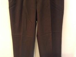 Dark Green 100 Percent Wool Pleated Front Dress Pants Louis Raphael Size 34 image 3