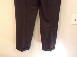 Dark Green 100 Percent Wool Pleated Front Dress Pants Louis Raphael Size 34 image 8